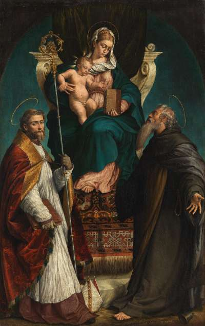 Maria mit Kind und den hll. Martin und Antonius Abbas