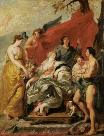 Geburt Ludwigs XIII. (Kopie nach dem Medici-Zyklus)