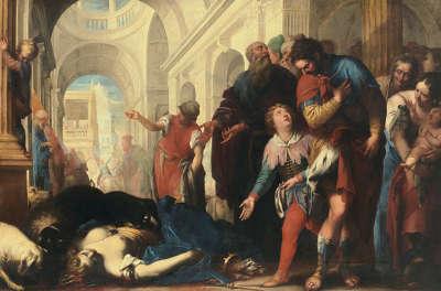 Königin Jezabel wird den Hunden vorgeworfen