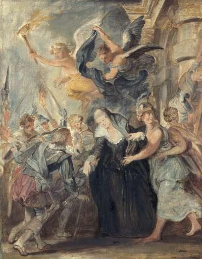 Die Flucht von Blois (Skizze zum Medici-Zyklus)