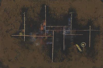 Gerüst eines Neubaues 1930,41