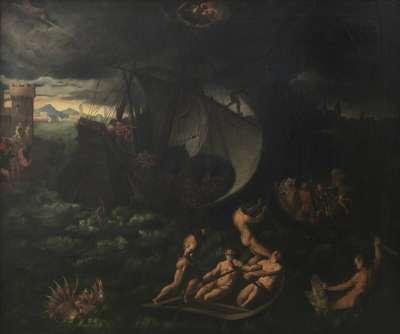 Seesturm, vom hl. Markus beschwichtigt (nach Paris Bordone)