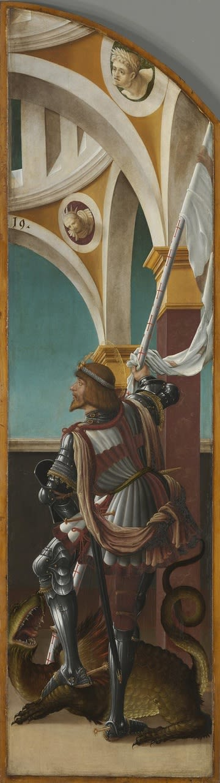 Kreuzigungsaltar, rechte Flügelaußenseite: Hl. Georg