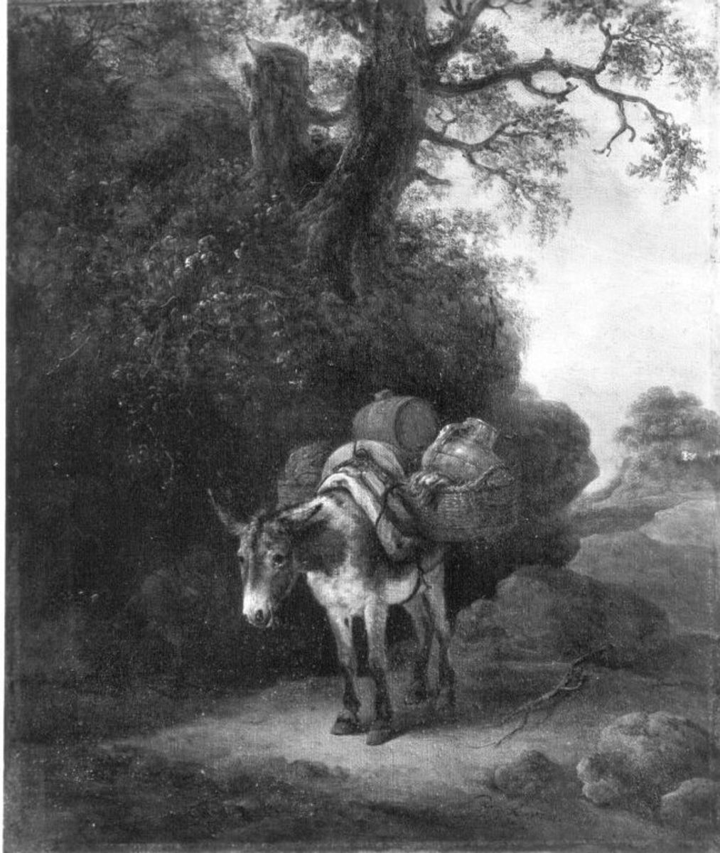 Beladener Esel