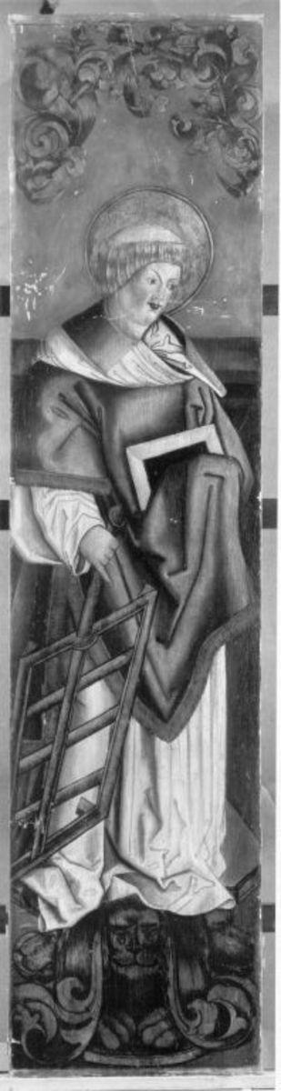 Hl. Laurentius (Rückseite: Rest eines Strahlenkranzes)