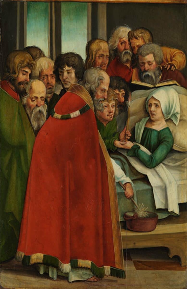 Flügel eines Altares: Tod Mariens