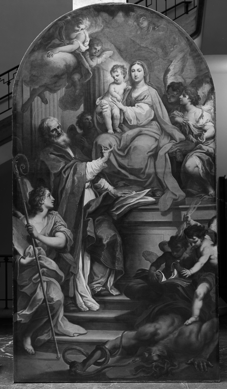 Maria mit dem Kind auf dem Thron