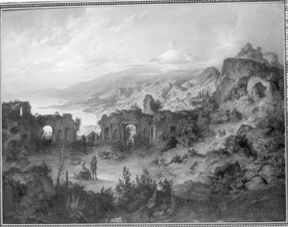 Taormina mit Blick auf den Ätna