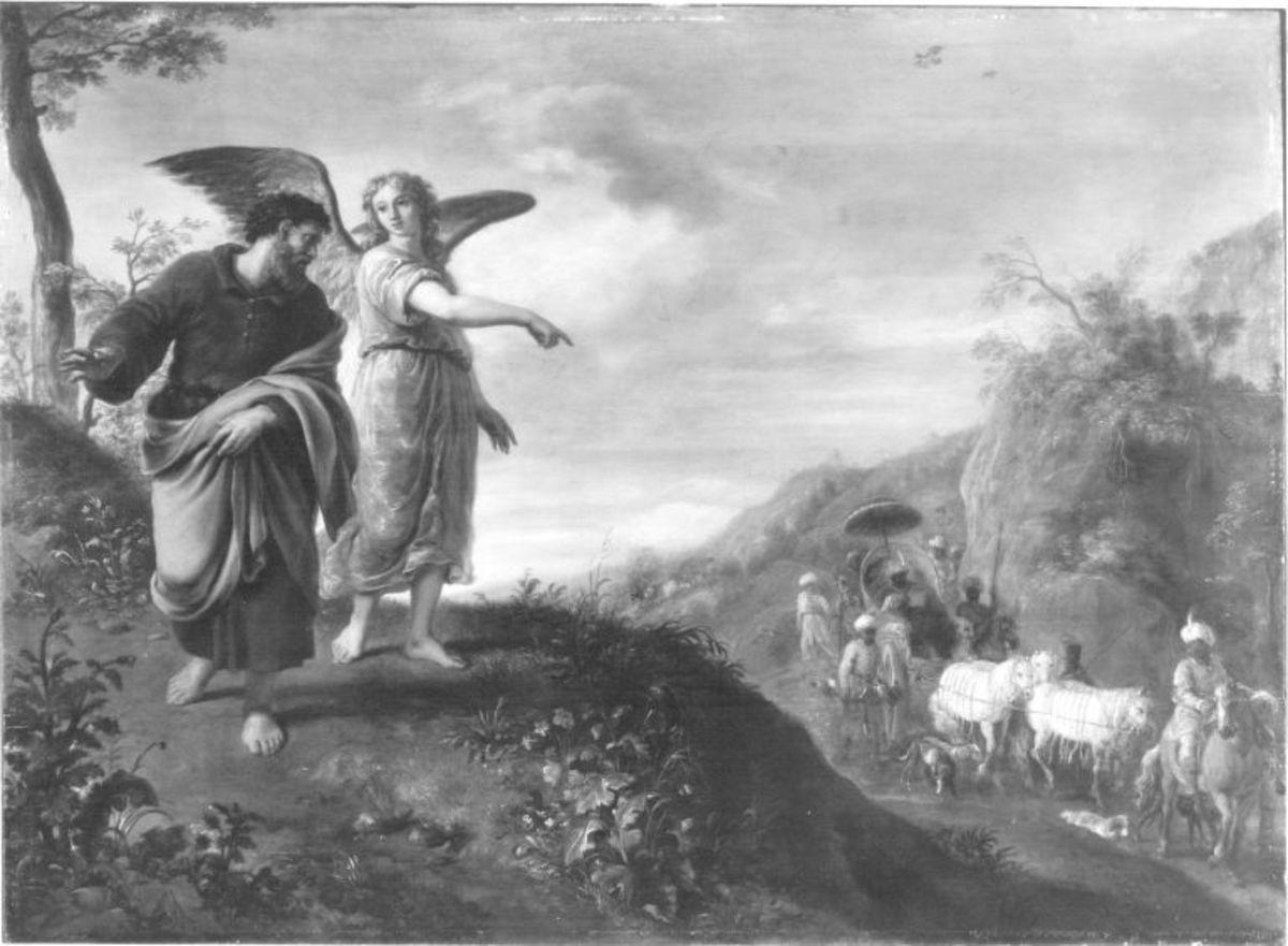 Der Engel zeigt Philippus den Mohrenkämmerer