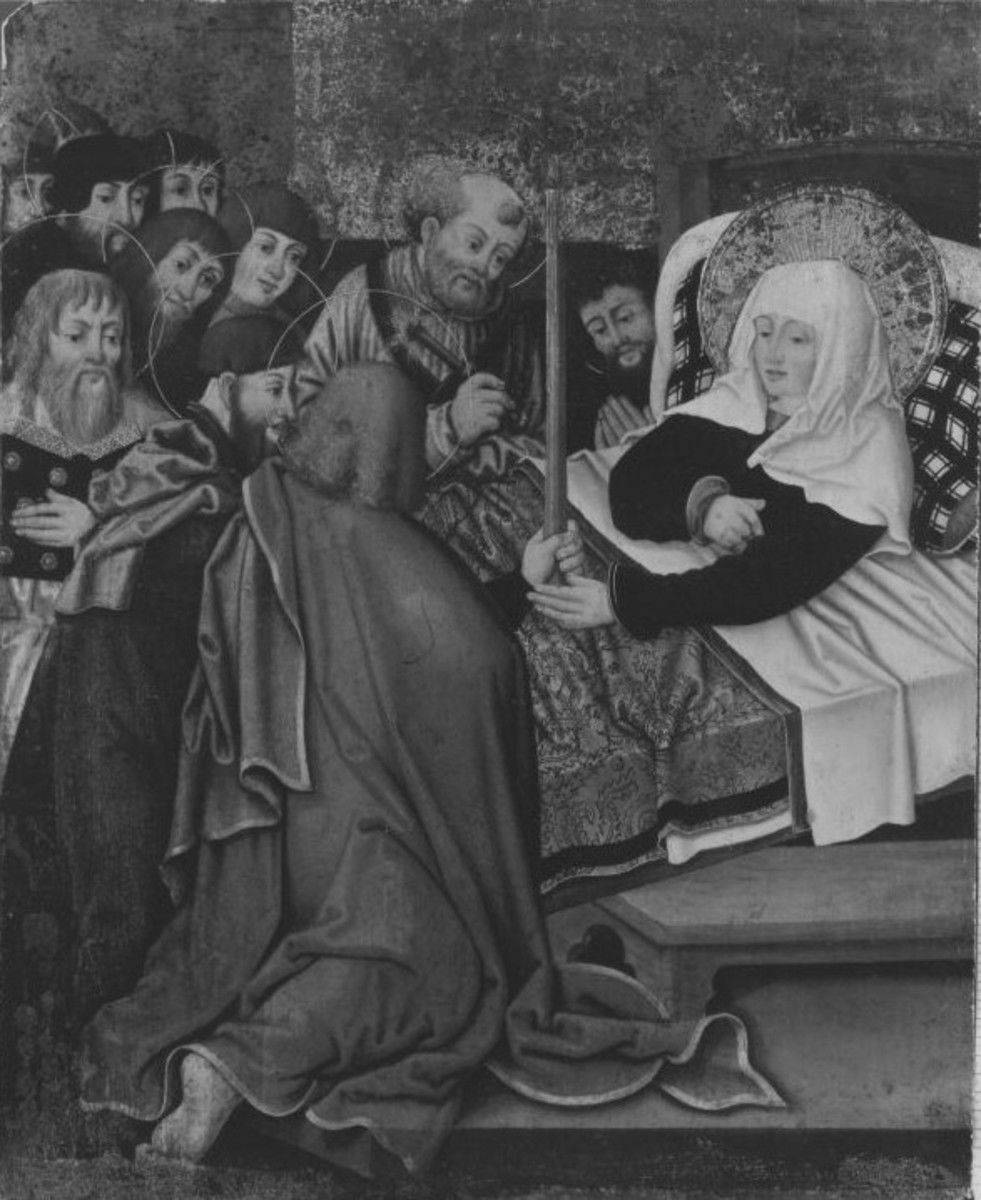 Tod Mariens (Rückseite: Hll. Dorothea und Margaretha)