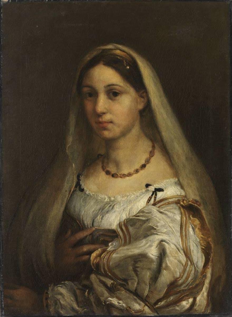 Bildnis einer Frau mit Schleier (nach Raffael)