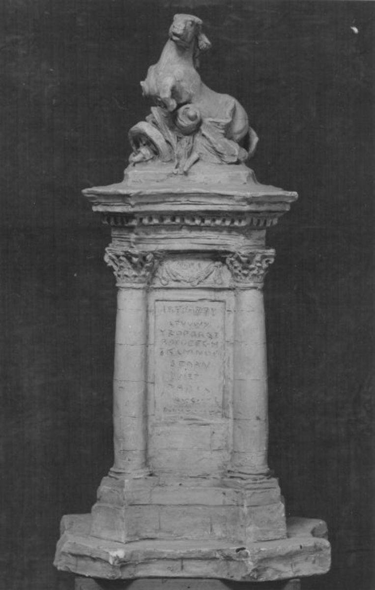 Modell für ein Gefallenendenkmal des Deutsch-Französischen Krieges 1870/71 in Wiesbaden