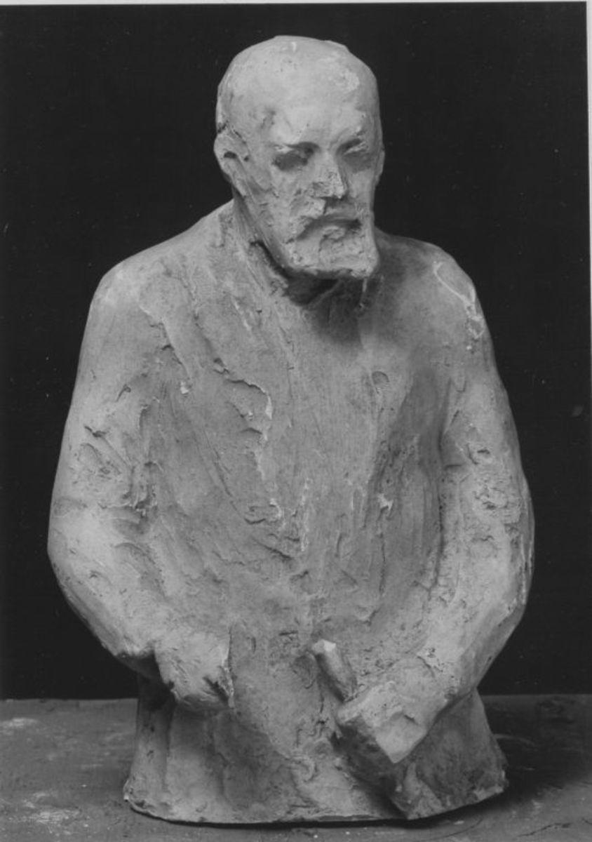 Bozzetto für die Halbkörperbüste von Ernst Abbe (1840–1905)