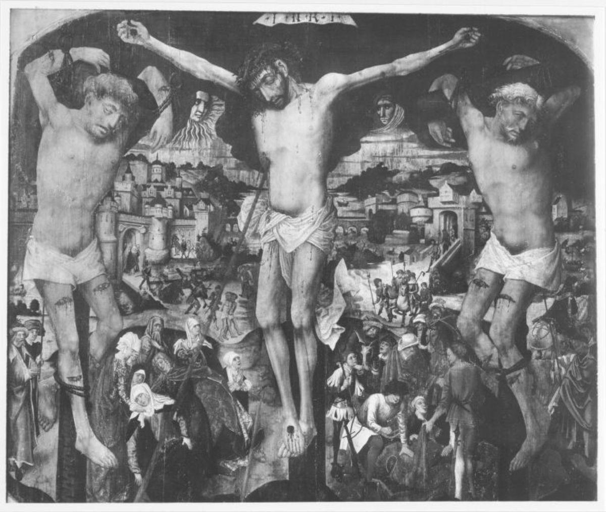 Pollinger Passionstafel: Kreuzigung Christi
