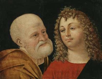 Die hl. Petrus und Johannes Evangelist (Kopie nach Agostino da Lodi)
