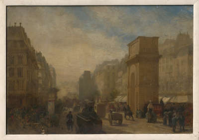 Die Porte Saint Martin in Paris