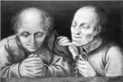 Zwei betende Männer