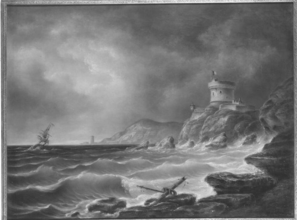 Hafen bei stürmischer See