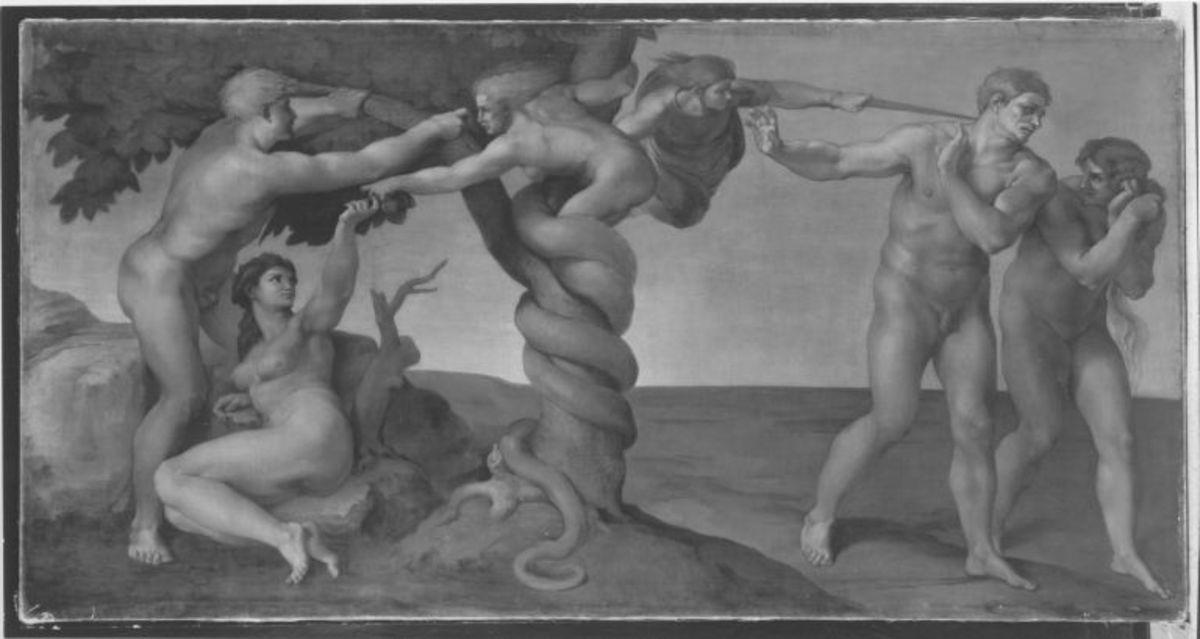 Sündenfall und Vertreibung aus dem Paradies (nach Michelangelo)