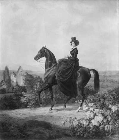 Caroline Gräfin Waldbott von Bassenheim zu Pferd