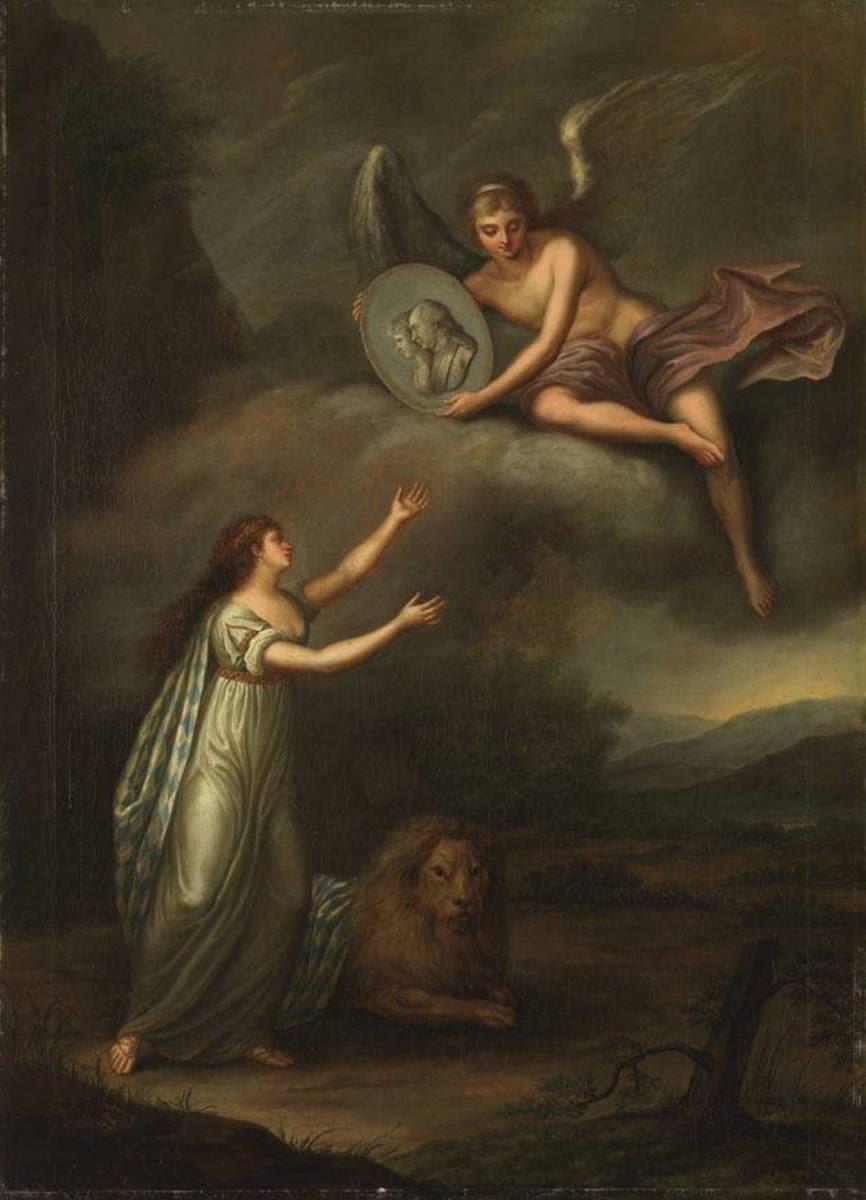 Allegorie auf die Ankunft Max IV. Joseph in Bayern