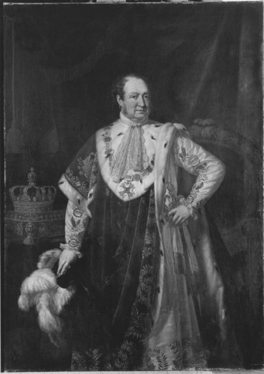 König Max I. Joseph von Bayern im Krönungsornat (nach Stieler und Kellerhoven)