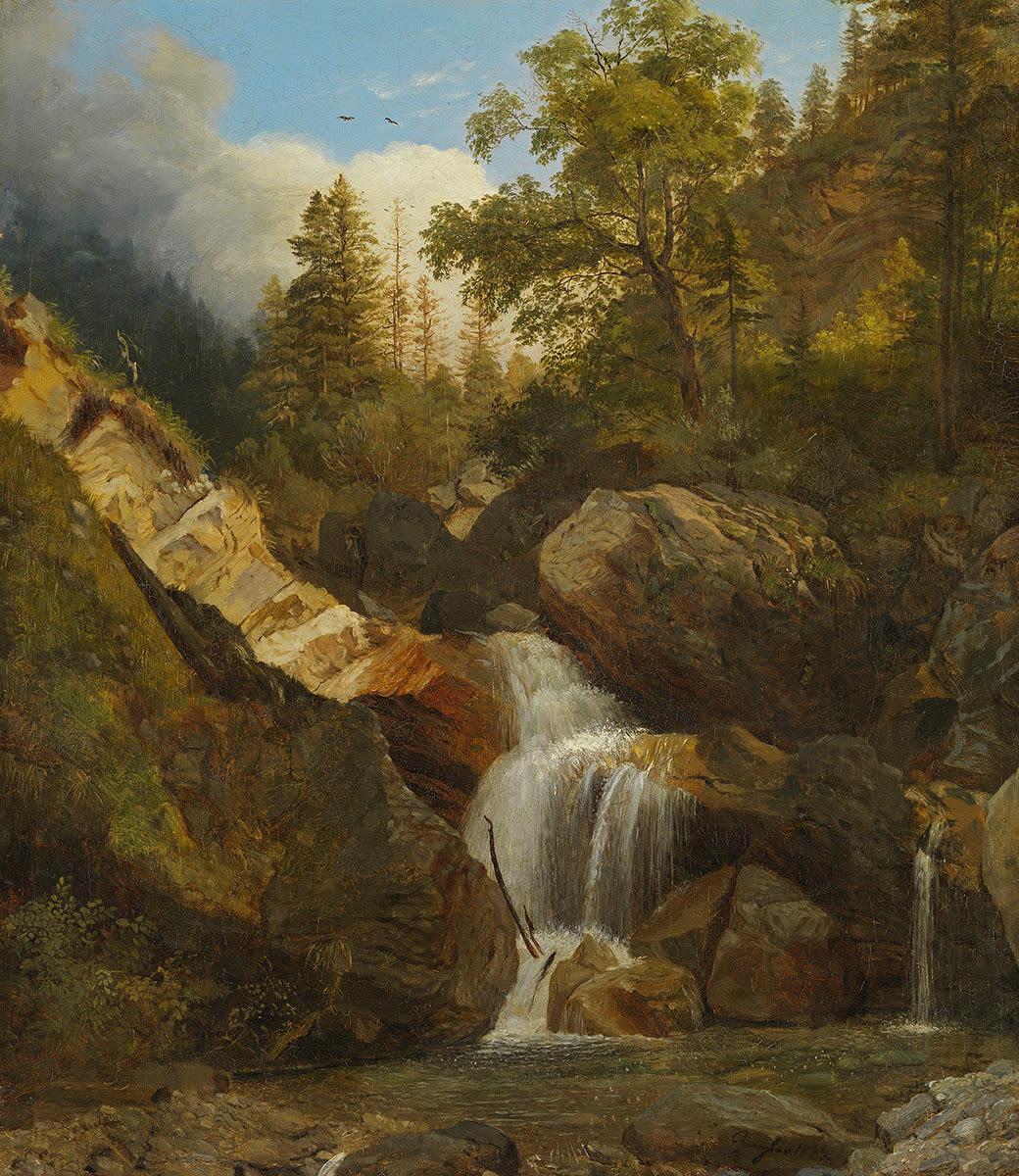 Großer Wasserfall