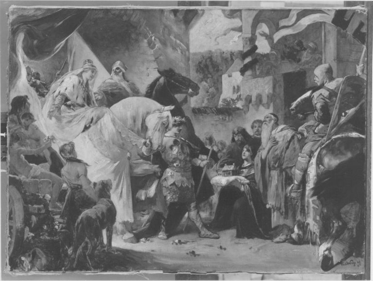 Einzug Kriemhilds in Passau