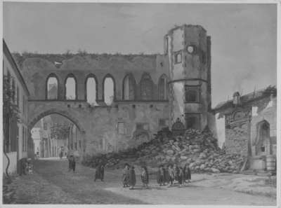 Der Rathof in Speyer von Süden