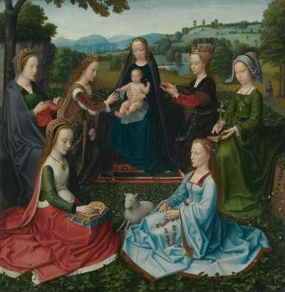 Madonna mit weiblichen Heiligen