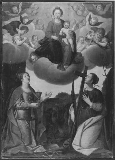 Maria mit Kind in der Glorie und den hll. Barbara und Margaretha