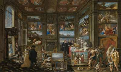 Ansicht einer Gemäldegalerie