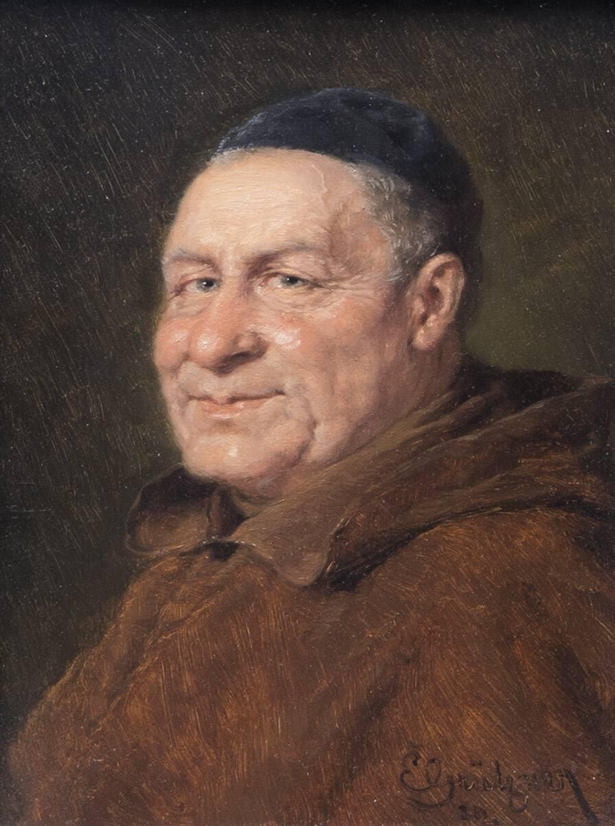 Brustbild eines Mönches