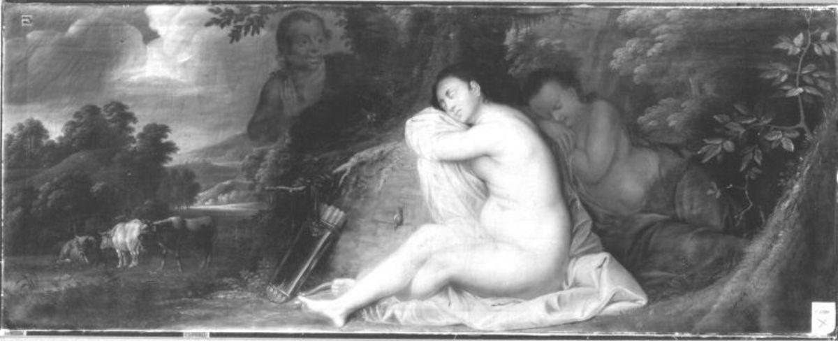 Schlafende Diana