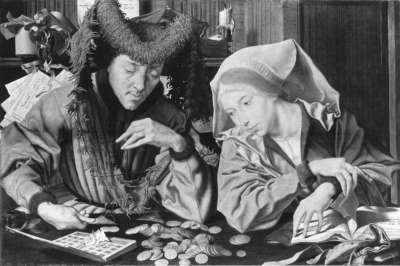 Ein Steuereinnehmer mit seiner Frau