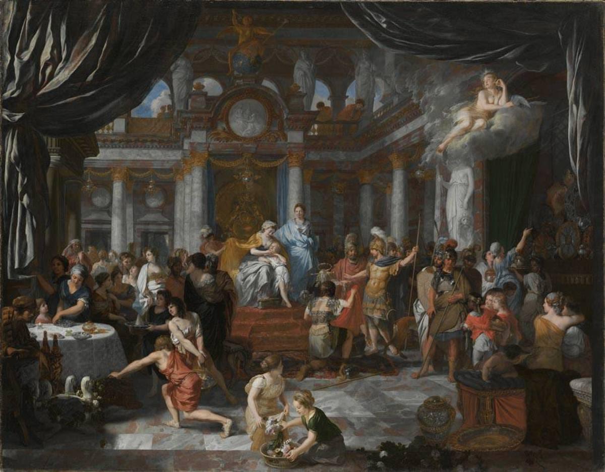 Aeneas beim Festmahl der Dido