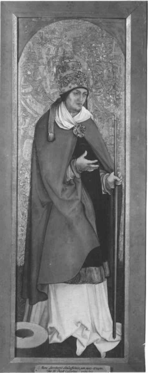 Flügel eines Diakonsaltares: Hl. Papst Kallistus Rückseite: Hl. Stephanus