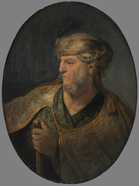 Brustbild eines Mannes in orientalischem Kostüm
