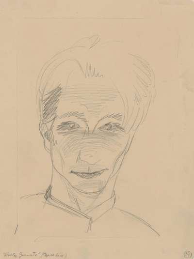 Männliches Gesicht (Selbstporträt)