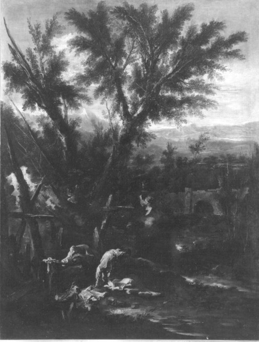 Landschaft mit Mönchen