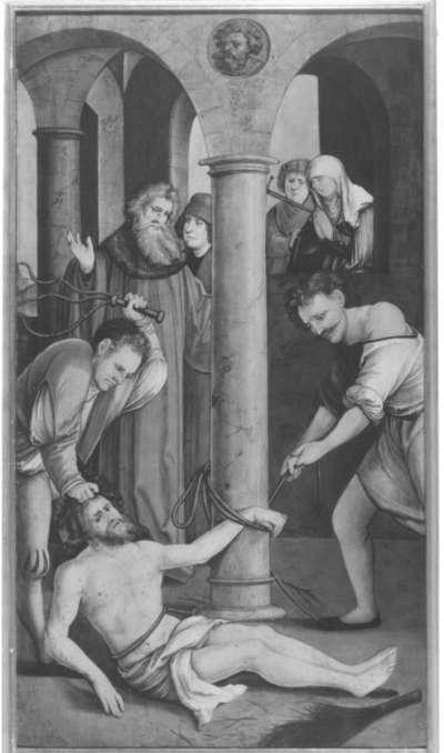 Christgartner Altar: Fall Christi bei der Geißelung
