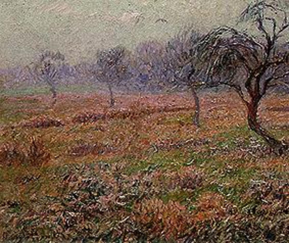 Wiese mit Obstbäumen
