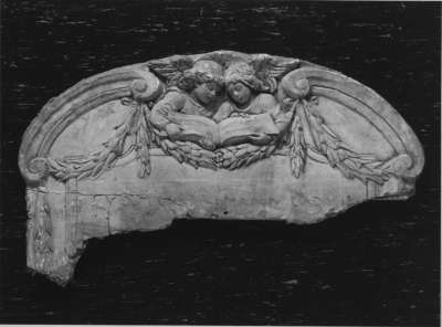 Fragment des Originalmodells für die Grabtafel des Mausoleums von Hermann Levi in Partenkirchen