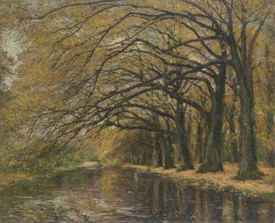 Kanal im Herbst