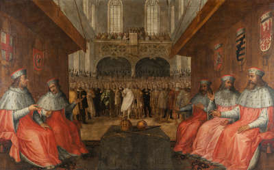 Herzog Ludwig IV. (der Bayer) von Bayern wird 1314 zum römisch-deutschen König gewählt