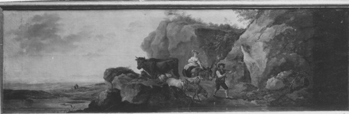 Landschaft mit Vieh und Hirten (Supraporte)