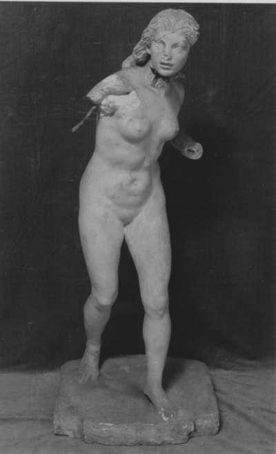 Junge Jägerin (Bozzetto für die Nischenfigur am Hubertusbrunnen in München)