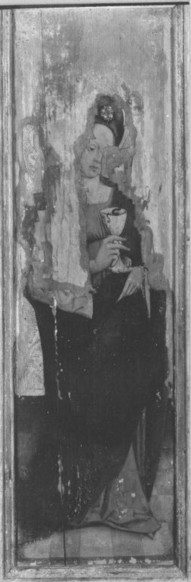 Hl. Barbara (Rückseite: Hl. Ottilie)