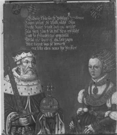 Bildnis des Kurfürsten Ludwig V. der Friedfertige von der Pfalz mit Gemahlin Sibylla