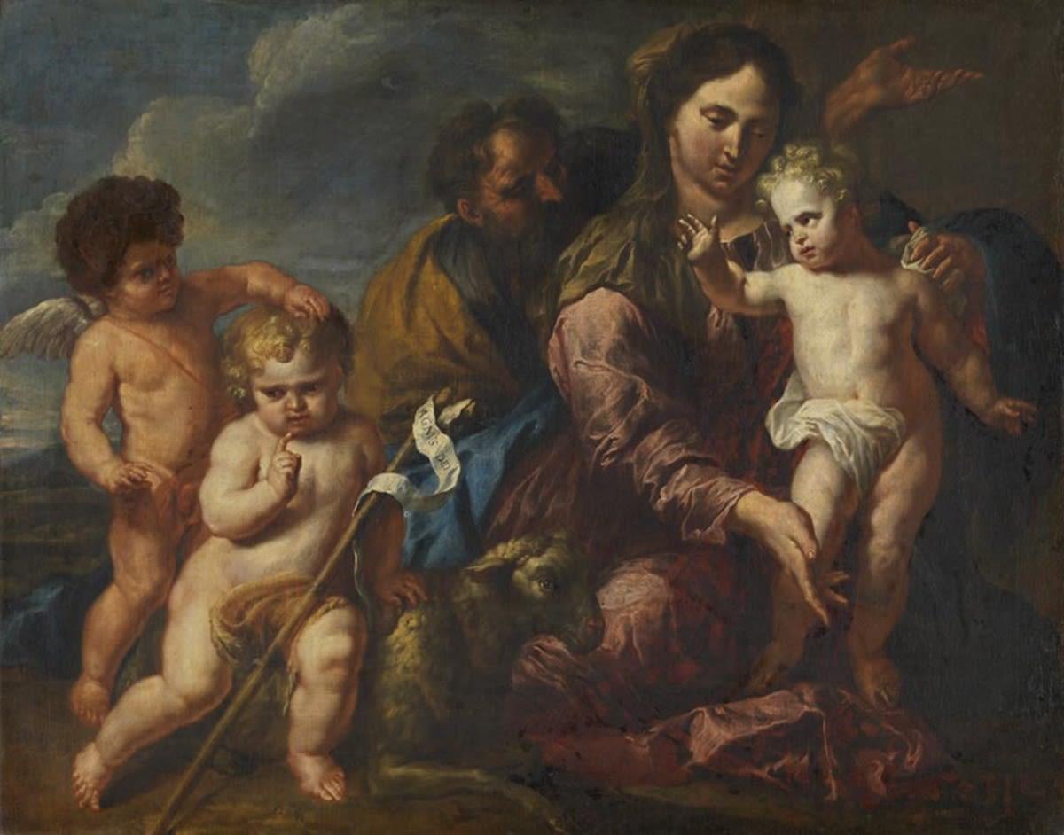 Heilige Familie mit dem Johannisknaben und einem Engel